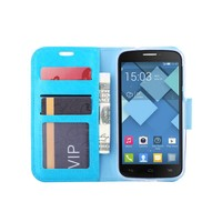 Bookcase Alcatel One Touch Pop C7 hoesje - Blauw