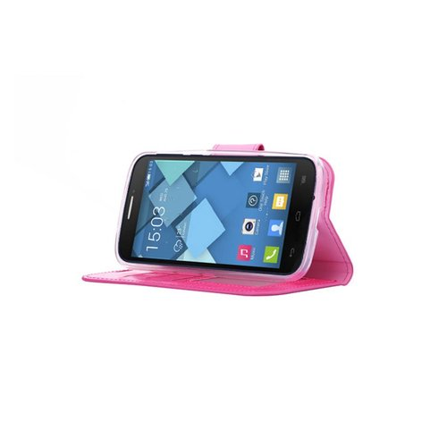 Bookcase Alcatel One Touch Pop C7 hoesje - Roze