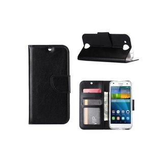 Luxe Lederen Bookcase hoesje voor de Huawei Ascend G7 - Zwart