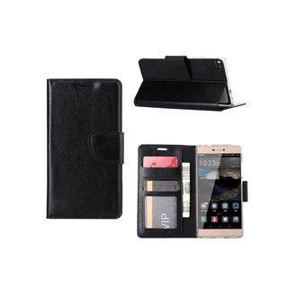 Bookcase Huawei P8 hoesje - Zwart