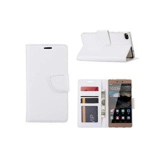 Bookcase Huawei P8 hoesje - Wit