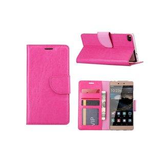 Bookcase Huawei P8 hoesje - Roze