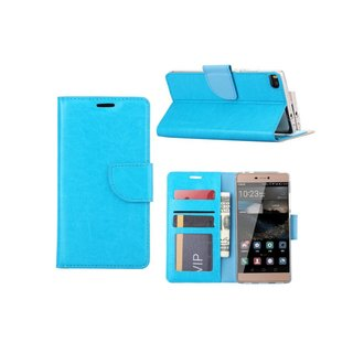 Bookcase Huawei P8 hoesje - Blauw
