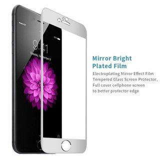Apple iPhone 6 / 6S Screenprotector Titanium Alloy Fullscreen - Glas - Zilver