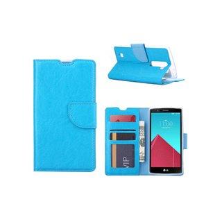 Luxe Lederen Bookcase hoesje voor de LG G4 Mini Compact - Blauw