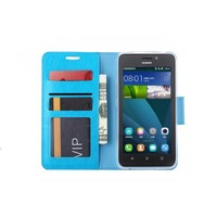 Bookcase Huawei Ascend Y635 hoesje - Blauw