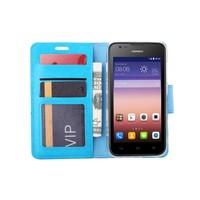Bookcase Huawei Ascend Y550 hoesje - Blauw
