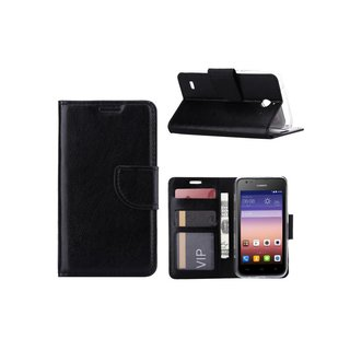 Bookcase Huawei Ascend Y550 hoesje - Zwart