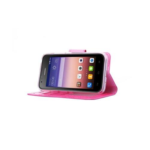 Bookcase Huawei Ascend Y550 hoesje - Roze