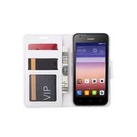 Bookcase Huawei Ascend Y550 hoesje - Wit