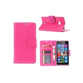 Bookcase Nokia Lumia N535 - N530 / Microsoft Lumia N535 - N530 hoesje - Roze