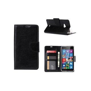 Bookcase Nokia Lumia N535 - N530 / Microsoft Lumia N535 - N530 hoesje - Zwart