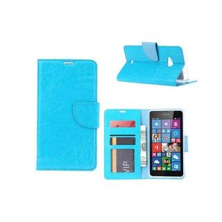 Bookcase Nokia Lumia N535 - N530 / Microsoft Lumia N535 - N530 hoesje - Blauw