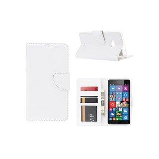 Bookcase Nokia Lumia N535 - N530 / Microsoft Lumia N535 - N530 hoesje - Wit