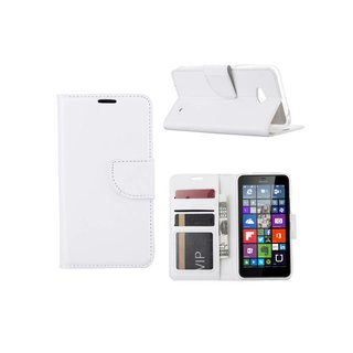 Bookcase Nokia Lumia N640 / Microsoft Lumia 640 hoesje - Wit