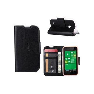 Bookcase Nokia Lumia N830 / Microsoft Lumia 830 hoesje - Zwart
