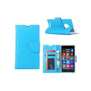 Luxe Lederen Bookcase hoesje voor de Nokia Lumia N830 / Microsoft Lumia 830 - Blauw