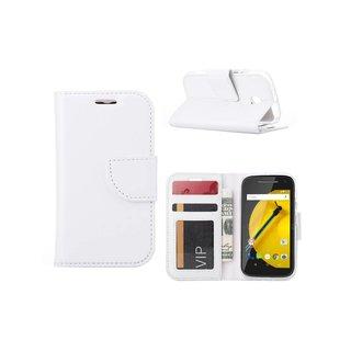 Bookcase Motorola Moto E hoesje - Wit