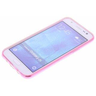 Samsung Galaxy J5 siliconen (gel) achterkant hoesje - Roze