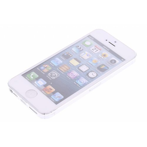 Apple iPhone 5 / 5S en SE siliconen achterkant hoesje - Transparant