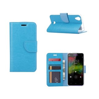 Bookcase Wiko Rainbow Up 4G hoesje - Blauw