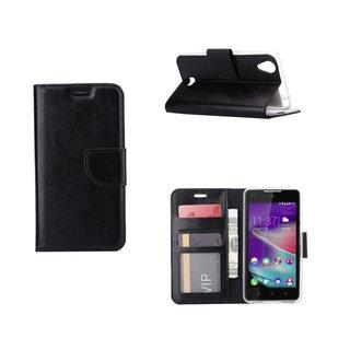Bookcase Wiko Rainbow Lite 4G hoesje - Zwart