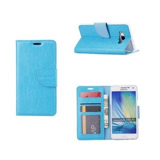 Luxe Lederen Bookcase hoesje voor de Samsung Galaxy A5 - Blauw