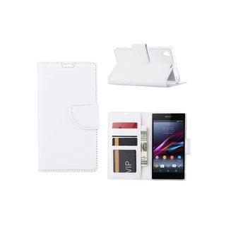 Bookcase Sony Xperia Z1 hoesje - Wit
