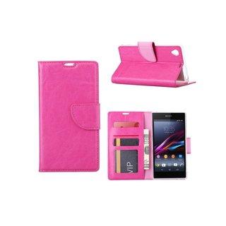 Bookcase Sony Xperia Z1 hoesje - Roze