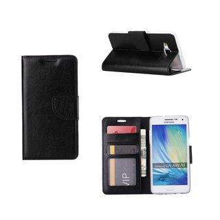 Luxe Lederen Bookcase hoesje voor de Samsung Galaxy A5 - Zwart