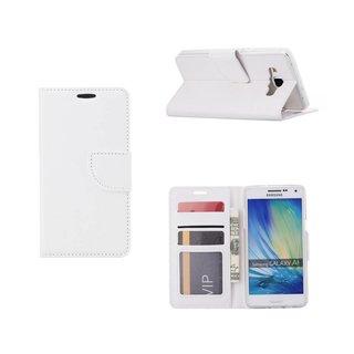 Luxe Lederen Bookcase hoesje voor de Samsung Galaxy A5 - Wit