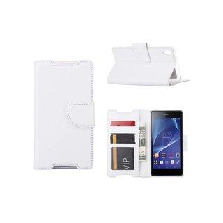 Bookcase Sony Xperia Z2 hoesje - Wit