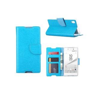 Bookcase Sony Xperia Z5 hoesje - Blauw