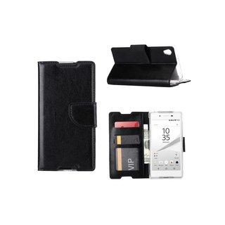 Bookcase Sony Xperia Z5 hoesje - Zwart