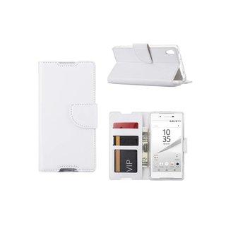 Bookcase Sony Xperia Z5 hoesje - Wit