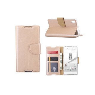 Bookcase Sony Xperia Z5 hoesje - Goud