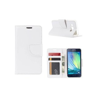 Bookcase Samsung Galaxy A3 hoesje - Wit