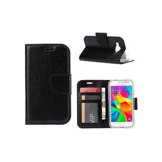 Luxe Lederen Bookcase hoesje voor de Samsung Galaxy Core Prime G360 - Zwart