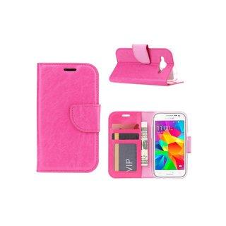 Luxe Lederen Bookcase hoesje voor de Samsung Galaxy Core Prime G360 - Roze