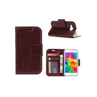 Bookcase Samsung Galaxy Core Prime G360 hoesje - Bruin