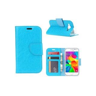 Luxe Lederen Bookcase hoesje voor de Samsung Galaxy Core Prime G360 - Blauw