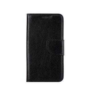 Luxe lederen Bookcase hoesje voor de Samsung Galaxy Grand Prime G530F - Zwart