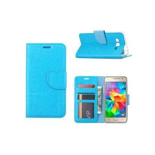 Luxe lederen Bookcase hoesje voor de Samsung Galaxy Grand Prime G530F - Blauw