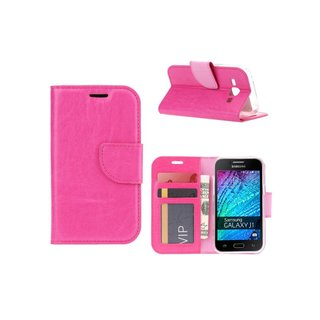 Bookcase Samsung Galaxy J1 hoesje - Roze