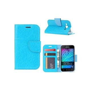 Bookcase Samsung Galaxy J1 hoesje - Blauw