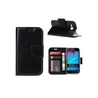 Bookcase Samsung Galaxy J1 hoesje - Zwart
