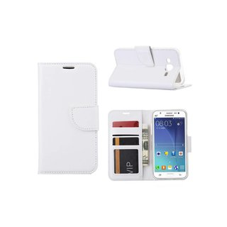 Bookcase Samsung Galaxy J5 hoesje - Wit