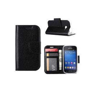 Bookcase Samsung Galaxy Trend Lite hoesje - Zwart