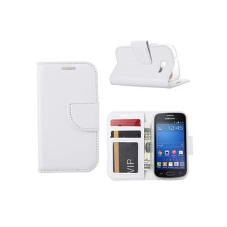 Bookcase Samsung Galaxy Trend Lite hoesje - Wit
