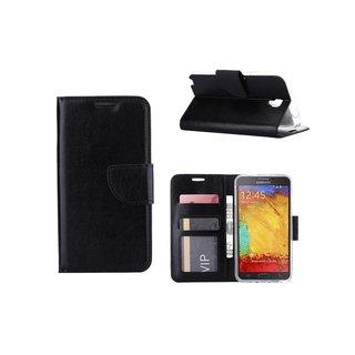 Luxe Lederen Bookcase hoesje voor de Samsung Galaxy Note 3 Neo - Zwart